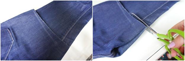 DIY Cut off Jeans Shorts