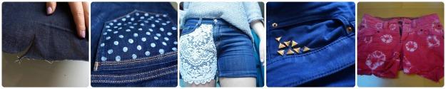 DIY Jeans shorts ideas