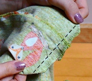 The Makeup Dummy DIY fox tote bag sides sew