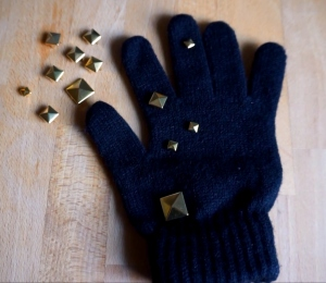 Studs on gloves an easy DIY