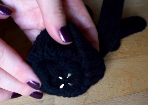 Attach your studs to the gloves a very easy DIY